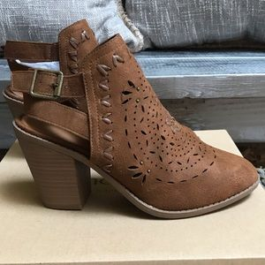 NWT Brown Suede Booties